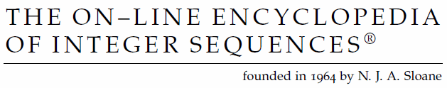 Visit The On-Line Encyclopedia of Integer Sequences® (OEIS®)