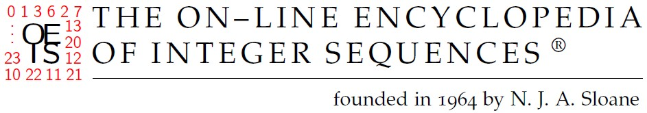 The On Line Encyclopedia Of Integer Sequences Oeis